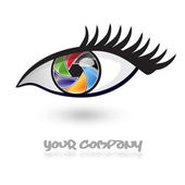Logo multicolored eye, iris # Vector — Stockvektor