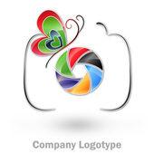 фотография логотип компании #vector — Cтоковый вектор