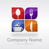 ресторан логотип # вектор — Cтоковый вектор