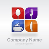 Restaurant logo # vektor — Stockvektor
