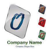 Logo initial letter O # Vector — Stock Vector