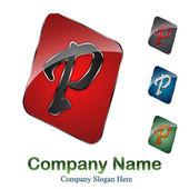 логотип буквица p # вектор — Cтоковый вектор