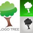 Company logo Tree Template — Stock Vector