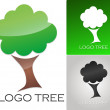 Company logo Tree Template — Stock Vector