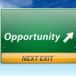 Opportunity Freeway Exit Sign — Vettoriali Stock