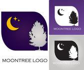 Moon tree company logo — Stock Vector