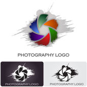 Photography company logo brush style #Vector — Stock Vector