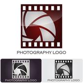 логотип компании фотографии фильм стиль #vector — Cтоковый вектор