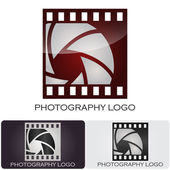 Photography company logo Film style #Vector — Vettoriale Stock
