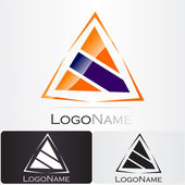 Diseño de logotipo de empresa — Vector de stock