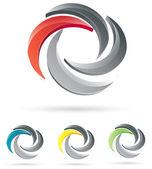 Design loga společnosti — Stock vektor