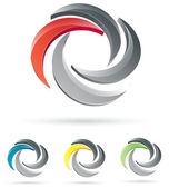 Progettazione del logo azienda — Vettoriale Stock