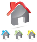 3d house icon — Stock Vector