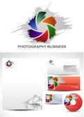 Progettazione del logo modello fotografia — Vettoriale Stock