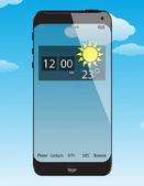 Glass concept phone — Stock Vector