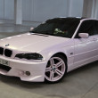 White pink colored BMW seria 3 at the 4Tuning Fest Auto Show Bucharest, Romania — Stock Photo #13978220