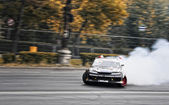 Drifting car at the Grand Prix of Romania — Stock Photo