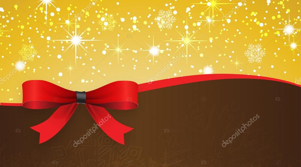 Holiday banner with red ribbons  Vector background   — Stock Vector #14143127