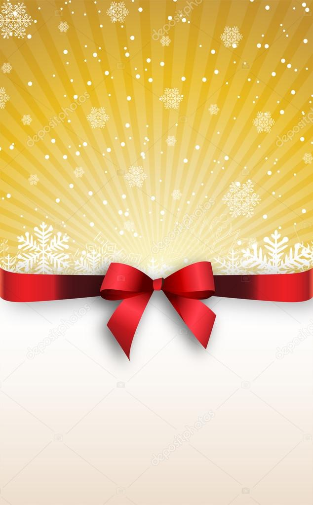 Holiday banner with red ribbons  Vector background    Stock Vector #14143135