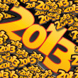 2013, Happy new year — Imagen vectorial