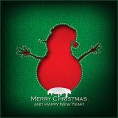 рождественский снеговик — Cтоковый вектор