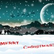 Winter Christmas landscape with santa — Stock Vector #15346471