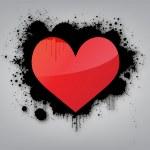Graffiti Love Background — Stock Vector