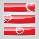 Heart web banner — Stock Vector #16187367