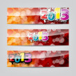 New Year headers, banners — Stock Vector