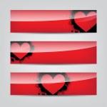 Heart web banner — Stock Vector