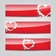 Stock Vector: Heart web banner