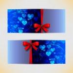 Amazing valentine cards — Stock Vector