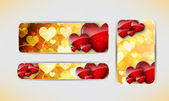 Valentines Day banners. — Stock Vector