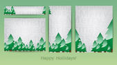 Merry Christmas banners — Stock Vector