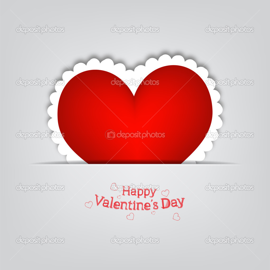 Valentine s heart in pocket  vector illustration on grey background and place for text  — Stock Vector #17056633