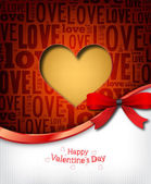 Red heart design card — Stock Vector