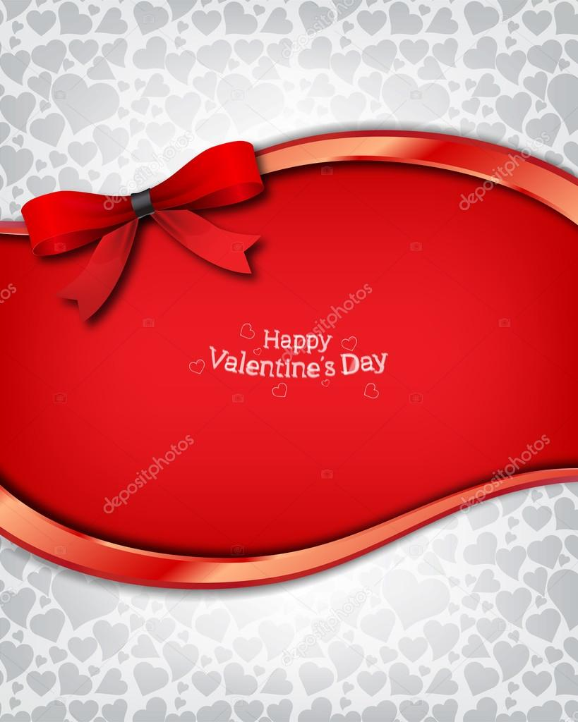 Beautiful vector background on Valentine's Day — Imagen vectorial #17177125
