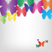 Butterfly background concept — Stock Vector