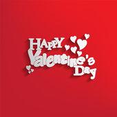 Feliz día de san valentín tarjeta — Vector de stock