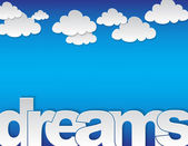Dreams concept — Stock Vector