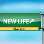 glänzende Autobahn Zeichen mit neuem Leben — Stockvektor