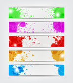 Splat Banners — Stock Vector
