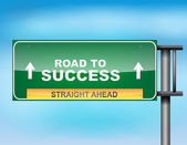 """Highway sign with """"Road to Success"""" text — Stock Vector"""