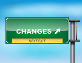 """Highway sign with """"Changes"""" text — Stock Vector"""