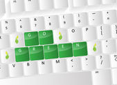 Go green Keyboard Concept — Stock Vector