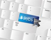 Concetto di tastiera di posti di lavoro — Vettoriale Stock