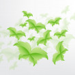 Green Butterfly Leaf Concept — Stock vektor