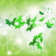 Environmental Background with green leaf butterflies — Imagens vectoriais em stock