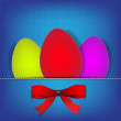 Royalty-Free Stock Vector Image: Easter background with stiched eggs