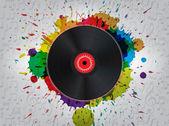 Grunge Vinyl Music Background — Stock Vector
